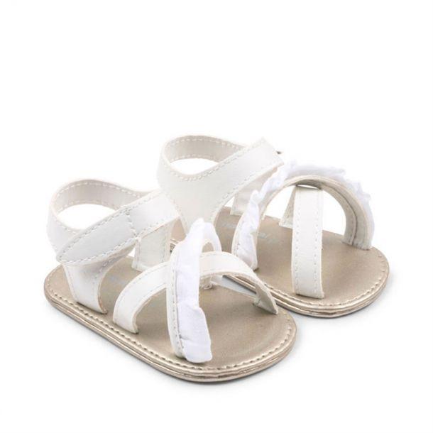 Baby Girl White Frill Sandal