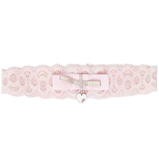 Baby Girls Pink Lace Headband