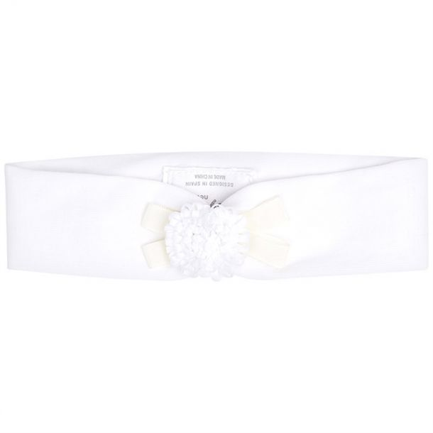 Baby Girls White Flower Headband