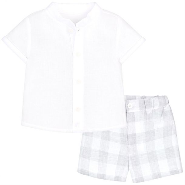 Baby Boy Linen Mix Short Set