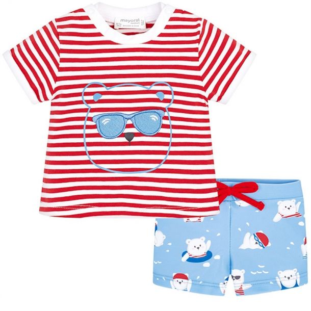 Baby Boys T-shirt & Swim Shorts