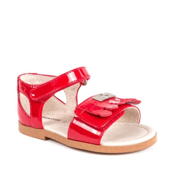 Girls Red Patent Sandal