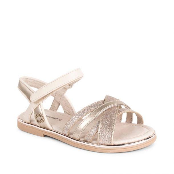 Girls Gold Glitter Sandal