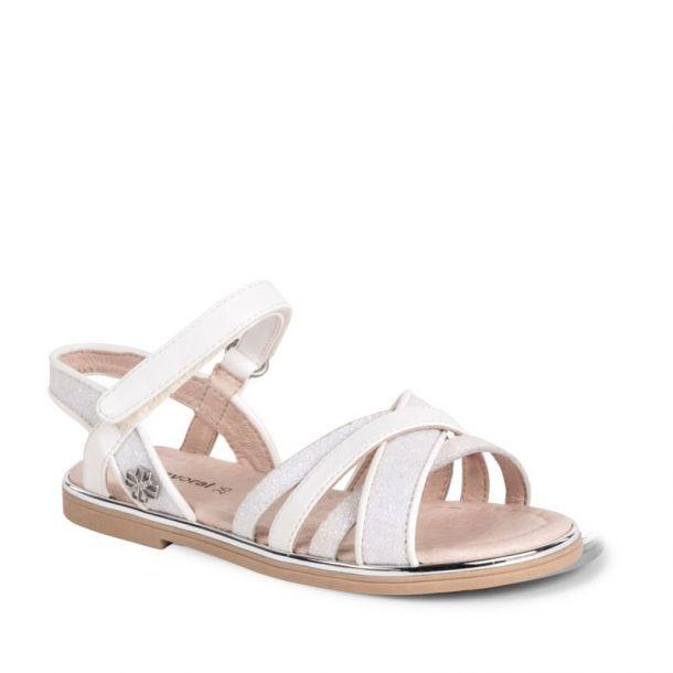 Girls Ivory Glitter Sandal