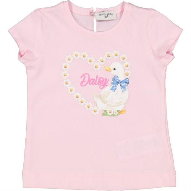 Baby Girls Heart Goose T-shirt