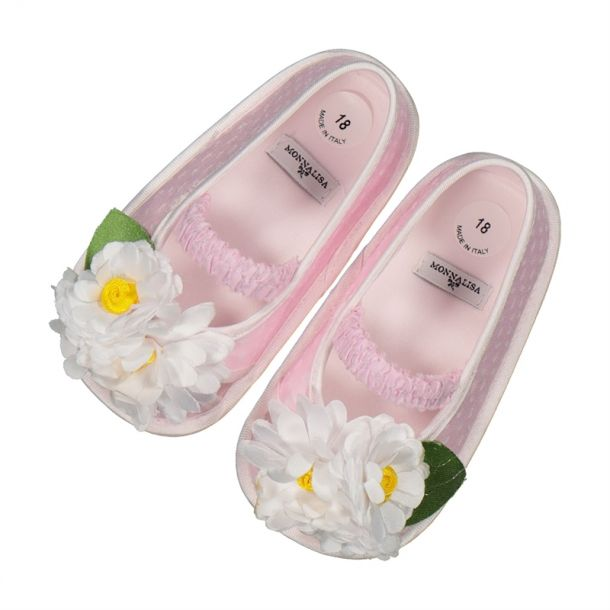 Baby Girls Pink Daisy Shoes
