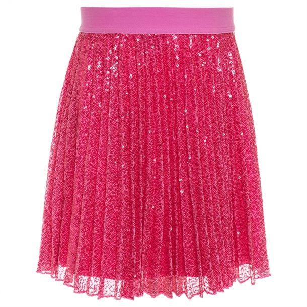 Girls Pnk Sequin Skirt