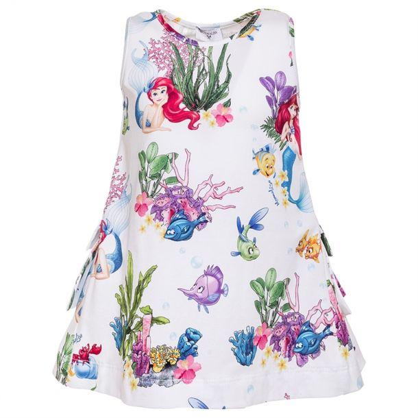 Girls Mermaid Print Tunic Top