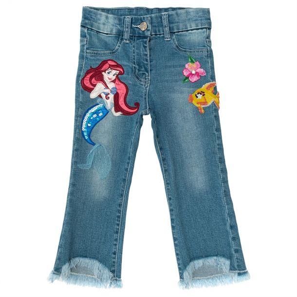 Girls Mermaid Applique Jeans