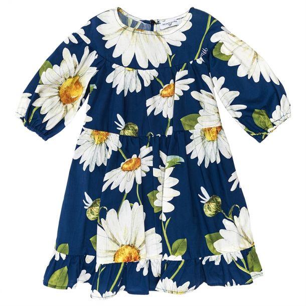Girls Blue Daisy Swing Dress