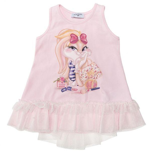 Girls Pink Lola Bunny Tunic