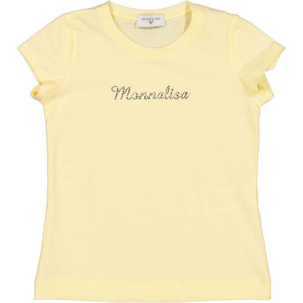 Girls Yellow Design T-shirt