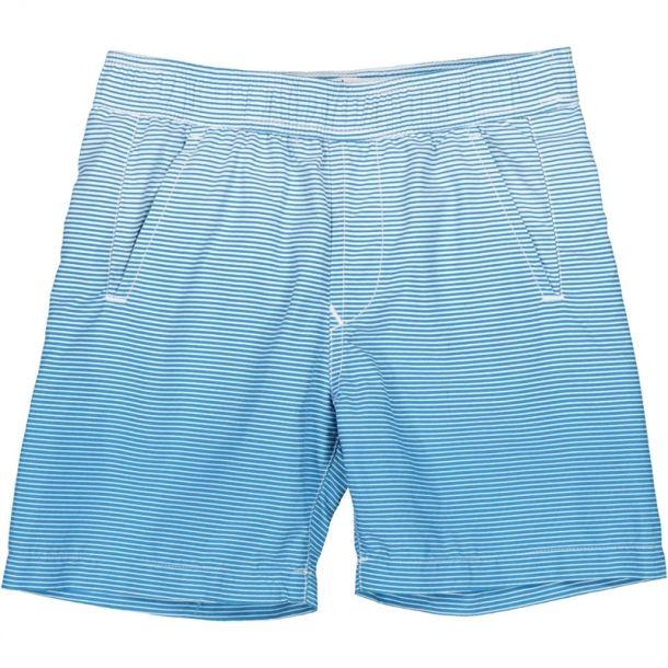 Boys Blue Stripe Swim Shorts