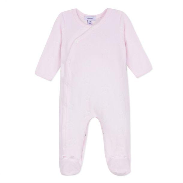 Baby Girls Pink Star Romper