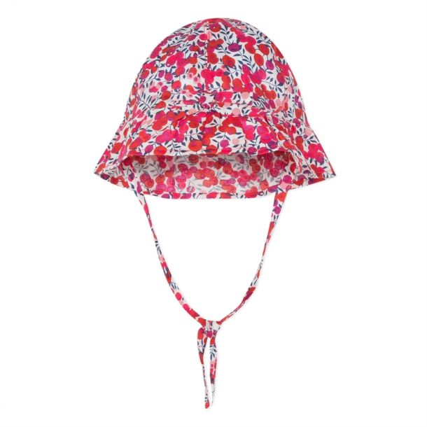 Baby Girls Red Liberty Sunhat