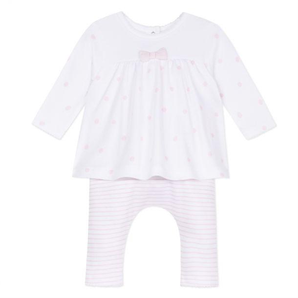 Baby Girls Layered Dot Romper