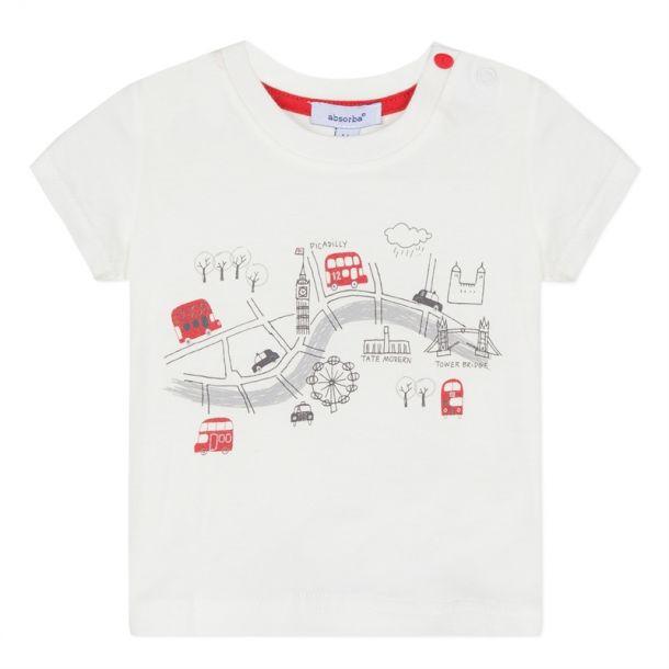 Baby Boys London Print T-shirt