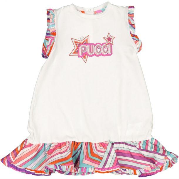 Baby Girls Logo Frill Dress
