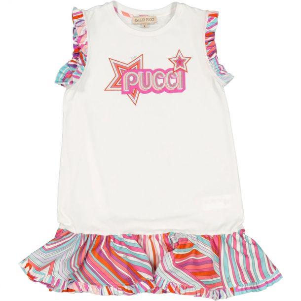 Girls Falling Star Logo Dress