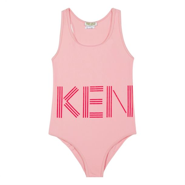 Girls Kenzo Logo Pink Swimsuit