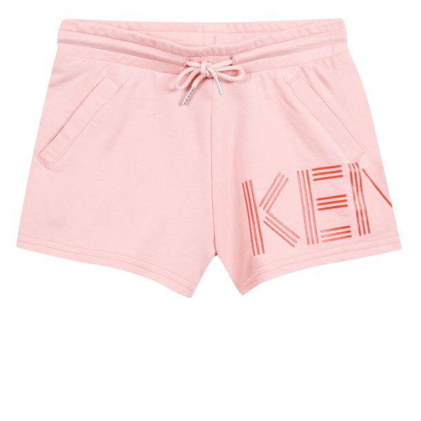 Girls Kenzo Logo Pink Shorts