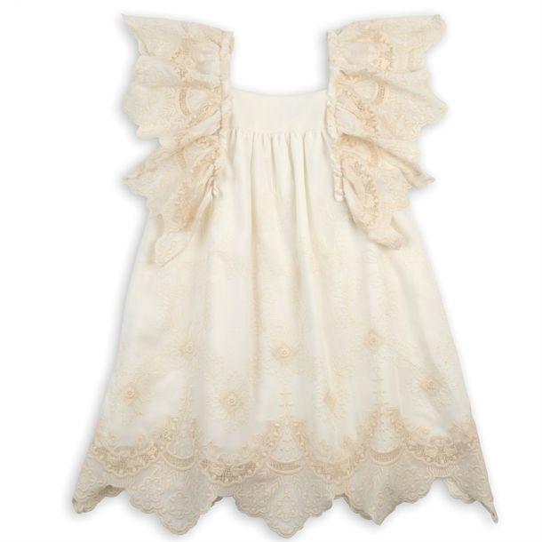 Girls Lace Frill Sleeve Dress