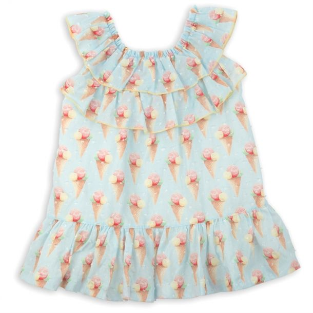 Girls Ice Cream Frill Dress