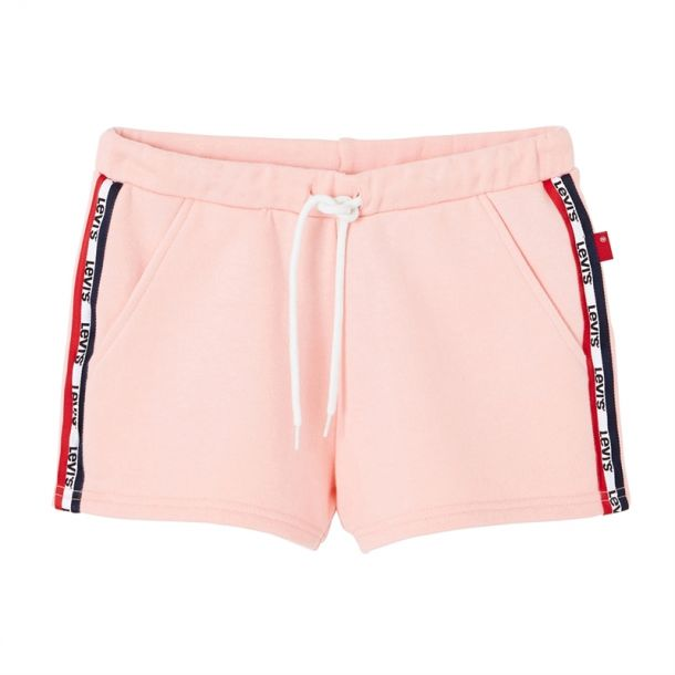 Girls Pink Logo Stripe Shorts