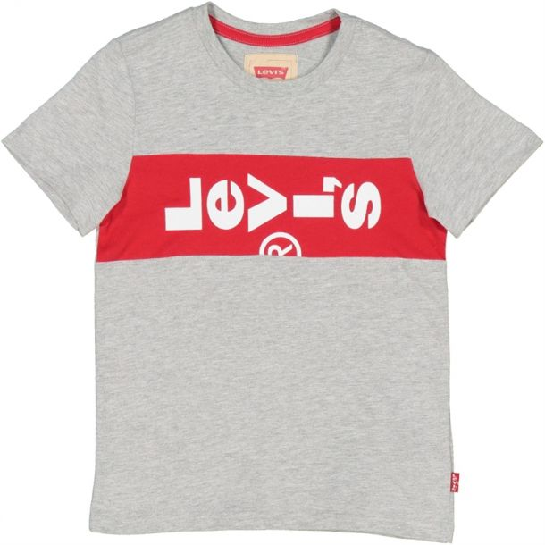Boy Lazytab Logo Grey T-shirt