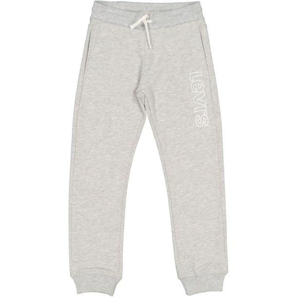 Boys Grey Logo Jogging Bottoms