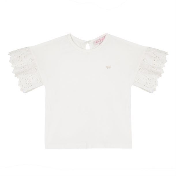 Girl Broderie Anglaise T-shirt