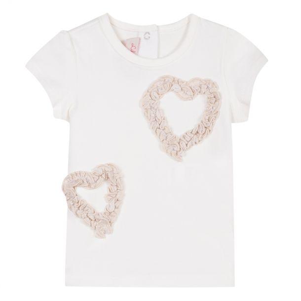 Baby Girl Heart Detail T-shirt