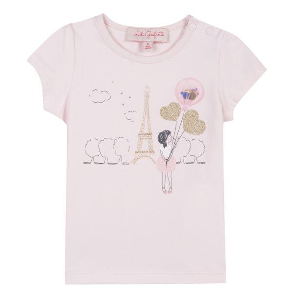 Baby Girls Paris Heart T-shirt