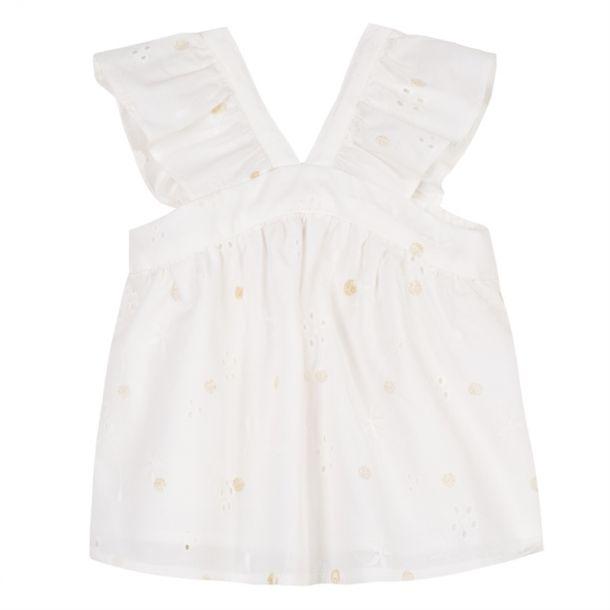 Baby Girls Glitter Spot Top