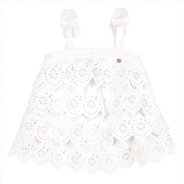 Girl Broderie Anglaise Top