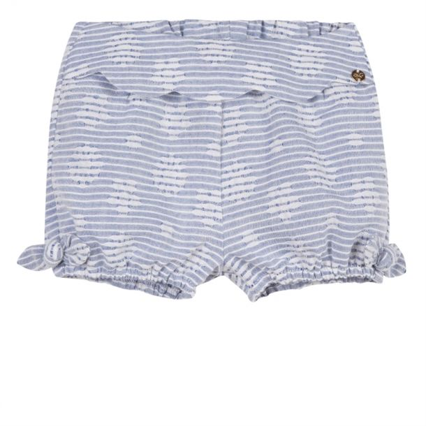 Baby Girl Flower Stripe Shorts