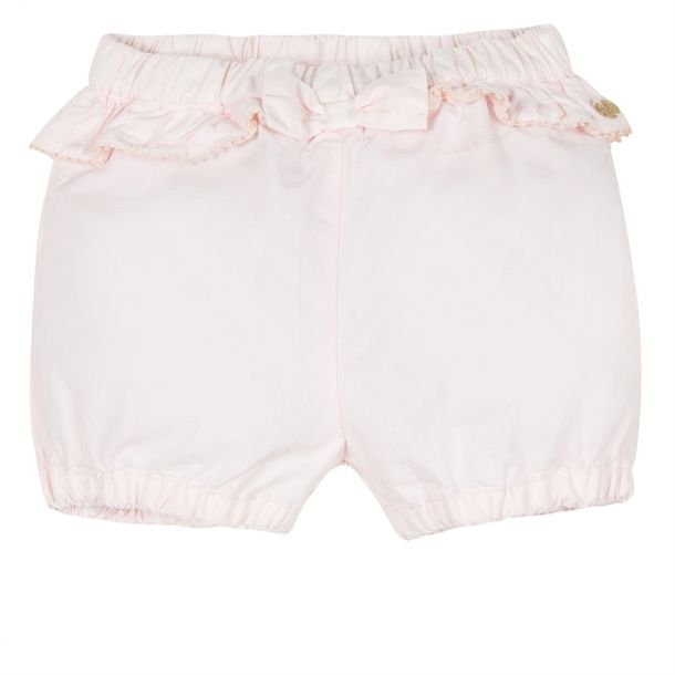 Baby Girl Pale Pink Bow Shorts
