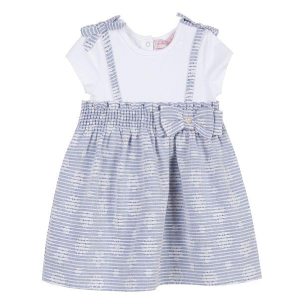 Baby Girls Stripe Flower Dress