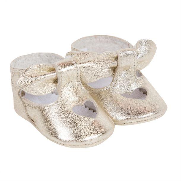 Baby Girl Gold Heart Shoe