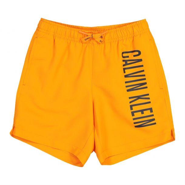 Boys Orange Branded Swimshorts