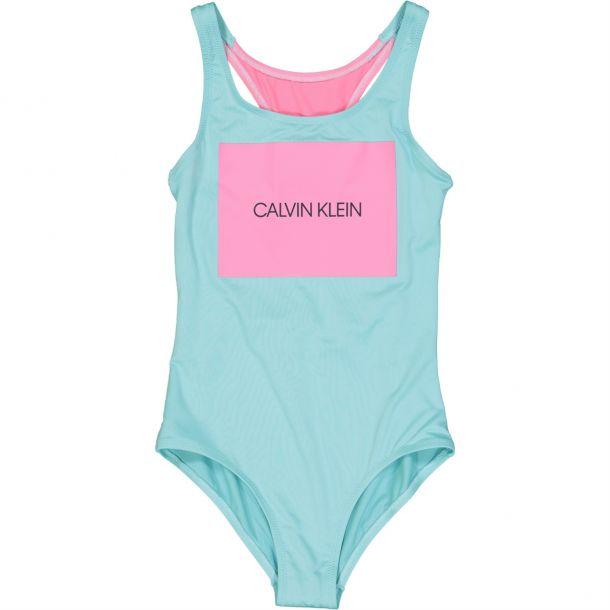 Girl Light Blue Brand Swimsuit