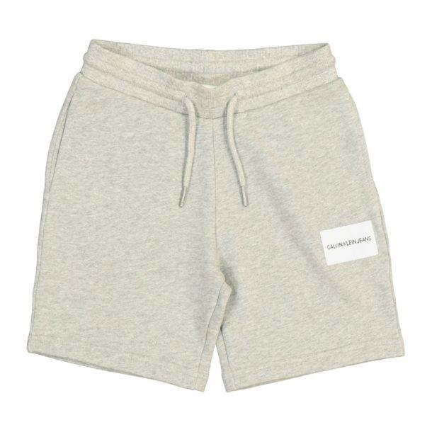 Boys Grey Logo Cotton Shorts