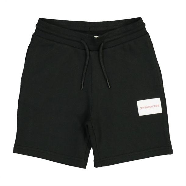 Boys Black Logo Cotton Shorts