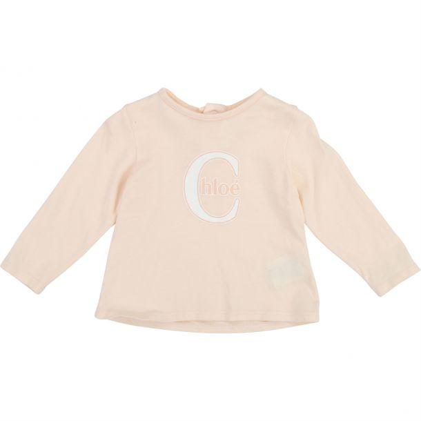 Baby Girls Pale Pink T-shirt