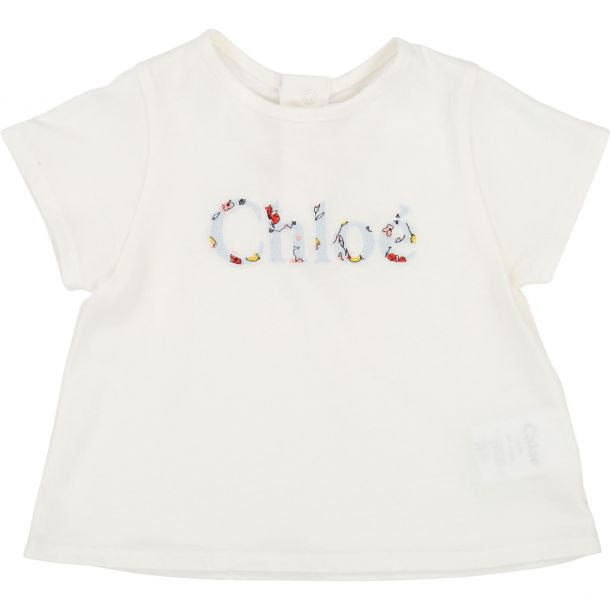 Baby Girls Floral Logo T-shirt