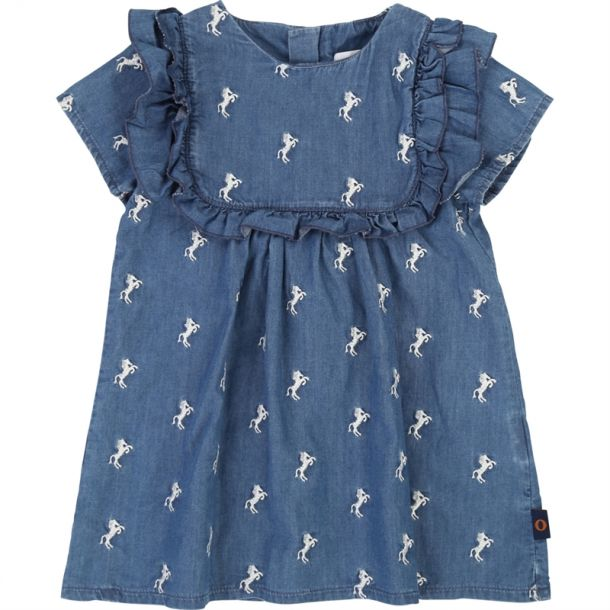 Baby Girls Horse Denim Dress