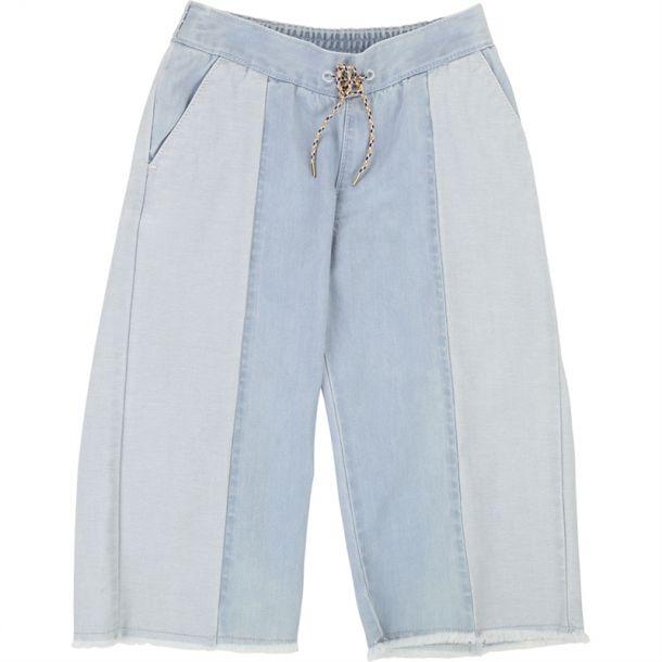 Girls Light Denim Trousers