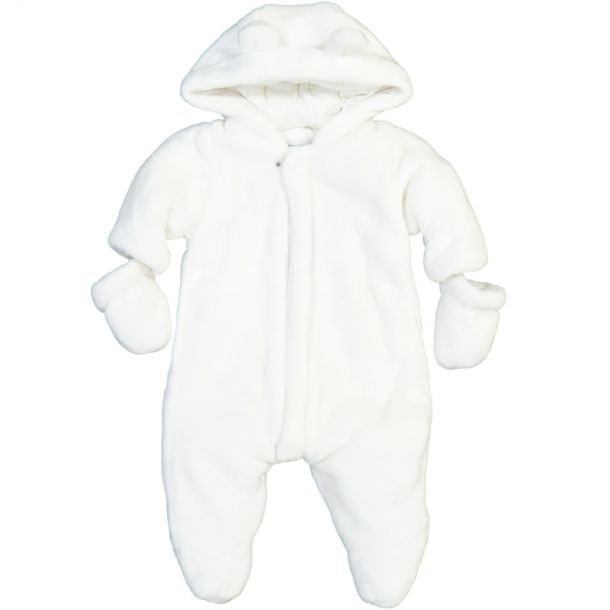 Baby Faux Fur Padded Snowsuit