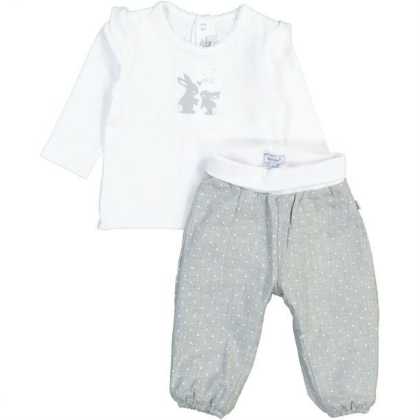 Baby Girls Bunny Top & Trousers