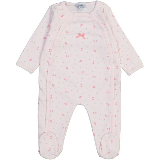 Baby Girls Footprint Romper
